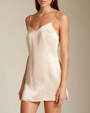 La Perla Dolce Collection XS 100% Silk Chemise Ivory Classic Simple Elegant New
