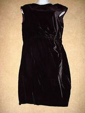 NWT Theory Arena Mysterious Black Velvet Dress $335 - Size 0