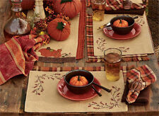 BITTERSWEET BURLAP LINED PLACEMAT 13X19 FALL AUTUMN COUNTRY HOME DECOR