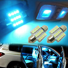 "2x Aqua Blue 1.25"" 31mm 12-SMD  DE3175 DE3022 LED Bulbs Car Interior light GB-J"
