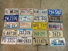 Large lot colorful of 20 old license plates - bulk - many states - low shipping