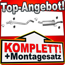Anbausatz für Opel Astra H 1.6i 16V 16V Kombi Astra H 1.8i Komplette Auspuff
