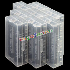 16X 18650 3.7V 6000mAh Li-ion Torch Rechargeable Battery + 8X Battery Case Box