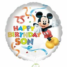 Mickey Mouse Happy Birthday Son - Standard HX Foil Balloons Decoration Supplies