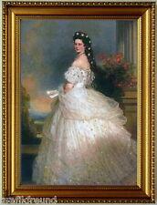 Sissi, Kaiserin Elisabeth von Österreich. Kunstdruck, stilvoll eingerahmt