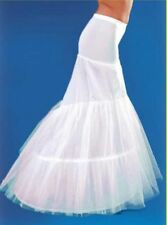 New white 2-Hoop Mermaid Bridal Underskirt Crinoline Wedding Dress Petticoat