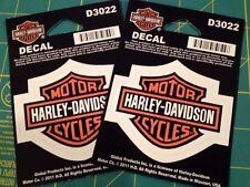 (2) HARLEY DAVIDSON BAR & SHIELD DECAL STICKER WINDOW SMALL
