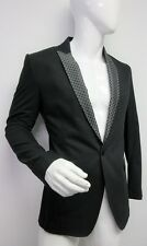 New Dolce & Gabbana Men's Diamond Detail Black  Blazer Jacket 48 US 38