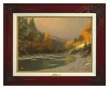 Thomas Kinkade - Autumn Snow – Canvas Classic (Brandy Frame)
