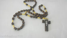 Cross Rosary Beads Necklace chain for men,women & Kids-BLACK RUDRAKSH
