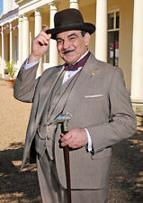 Poirot David Suchet Colour Salute Poster