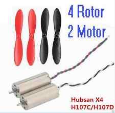 4pcs Propellers Blades+2x Motor 8.5mm Hubsan X4 H107C H107D Quadcopter RC dorne