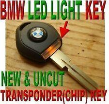 """BRAND NEW & UNCUT BMW """"LED LIGHT"""" IMMOBILIZER TRANSPONDER """"NEW VIRGIN CHIP"""" KEY"""