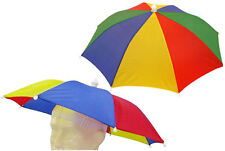 Rainbow Umbrella Hat - Festival Rave Outdoor Foldable Fishing Cap