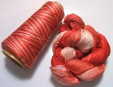 100% Pure Mulberry Queen Silk Yarn 50 gram 3 Ply Lace Weight Flamingo 16 Lot D