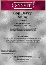 Bacche Di Goji 500mg 120 Compresse Antiossidante Supplemento SYNVIT