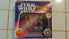 STAR WARS PUSH PIN COLLECTOR SET NEW AND BOXED 1997 ROSE ART