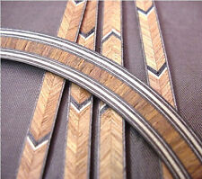 BROWN WOOD GUITAR SOUNDHOLE INLAY 4 STRIPS BINDING