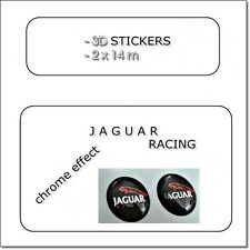 2x 3D STICKERS JAGUAR RACING 14  mm   LOGO EMBLEM