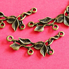 10pcs Antique Bronze Branch Twig with Leaf Connectors