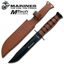 Officially Licensed Mtech Marines Black Tactical Survival Knife Knives #122MR