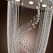 Crystal Pendant Light Ceiling Lamp Lighting Fixture Rain Drop Lyrate Chandelier