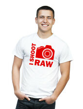 I SHOOT RAW photographer t-shirt RED PRINT birthday gift XXL SIZE - 100% cotton!