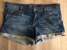 Mossimo Premium Denim Shorts Fit 3 size 16 Cuffed Jean Comfy Casual