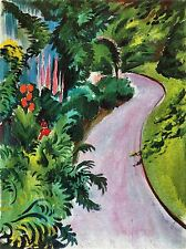 AUGUST MACKE PATH IN GARDEN OLD MASTER ART PAINTING PRINT POSTER 297OMA
