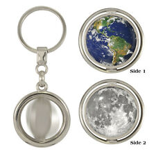 Earth & Moon Spinning Keyring space nasa astronomy club astronomer lunar NEW