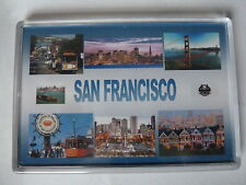 SAN FRANCISCO  - JUMBO FRIDGE MAGNET - Golden Gate, Fishermans Wharf, Alcatraz