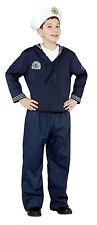 Navy Sailor Uniform Military Soldier Child Costume Kids Size 4-6