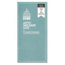 Dome Auto Mileage Log, Undated, 3-1/4 x 6-1/4, 32 Forms, EA - DOM770