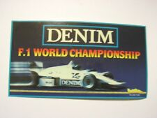 ADESIVO AUTO F1 anni '80 / Old Sticker WILLIAMS DENIM (cm 17x9)