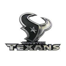 HOUSTON TEXANS CAR AUTO 3-D CHROME SILVER TEAM LOGO EMBLEM NFL FOOTBALL