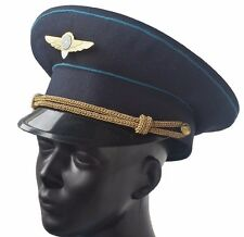 USSR Cap Russia Military Air Force Officer Hat Army Parade Peak Cap Size 57