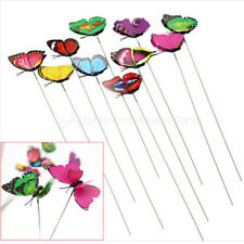 Garden Butterfly On Sticks Decorative Vase Lawn Craft Art Home Decor 10 Pcs New