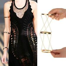 Gold Arm Slave Harness Chain Upper Cuff Armband Armlet Bracelet Bangle Women