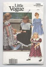 Little Vogue 7904 Girls Formal Christmas Dress Size 4 5 6 Pattern Fitted Bodice