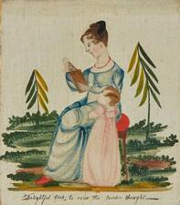 AMERICAN SCHOOL, 19TH CENTURY | Portrait Miniature of Mother and Child