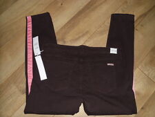 NWT Womens HUDSON JEANS LOULOU TUXEDO size 32 Brown Pink Skinny Pants