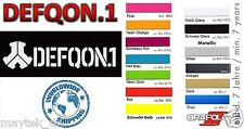 DEFQON 1 - 60 x 215mm -  Aufkleber, Sticker, Decal, Autocollant