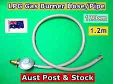 LPG Gas Burner Hose/Pipe with Regulator 120cm Good Quality Australia Made (B100)