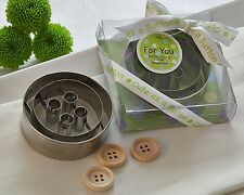 Cute As A Button 3D Button Cookie Cutters Baby Shower Favors