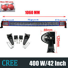 "CREE 400W CURVED 42INCH LED LIGHT BAR FLOOD SPOT OFFROAD SUV UTE ATV 45""/40INCH"