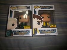 funko pop cedric draco malfoy hot topic exclusive harry potter