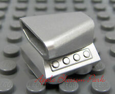 NEW Lego 2x2 Metallic SILVER ENGINE - Minifig Vehicle Motor -Truck/Car Air Scoop