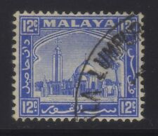 [JSC] 1935 MALAYA MOSQUE OLD STAMPS COLLECTION~12c blue