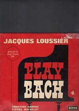 JACQUES LOUSSIER - play bach LP