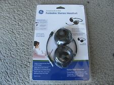 Brand New GE Universal All-in-One Foldable Stereo Headset 95432